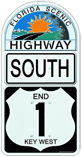 END 1 SOUTH KEY WEST * 6'' x 11''