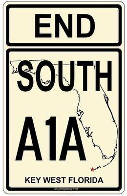 END SOUTH A1A KEY WEST * 7'' x 11''