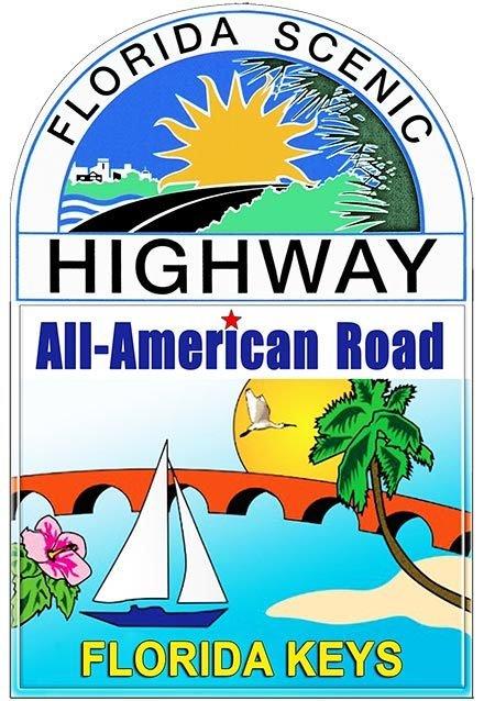ALL AMERICAN ROAD FLORIDA SCENIC * 7'' x 11'' 10474