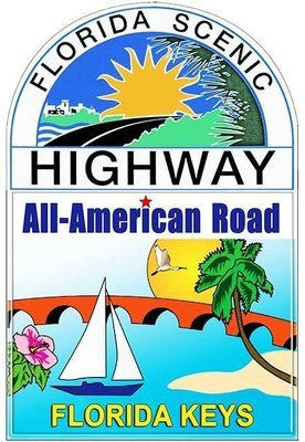 ALL AMERICAN ROAD FLORIDA SCENIC * 7'' x 11''