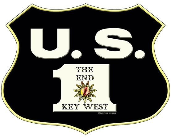 US 1 SHIELD THE END KEY WEST * 8'' x 10''
