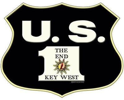 US 1 SHIELD THE END KEY WEST * 8'' x 10''