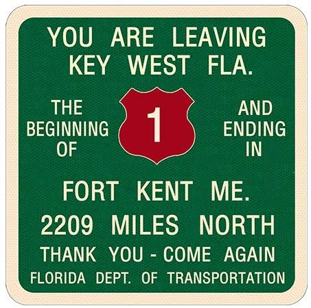 YOU ARE LEAVING KEY WEST * 8'' x 9'' 10481