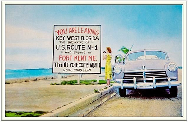YOU ARE LEAVING KEY WEST POSTCARD * 6'' x 11'' 10483