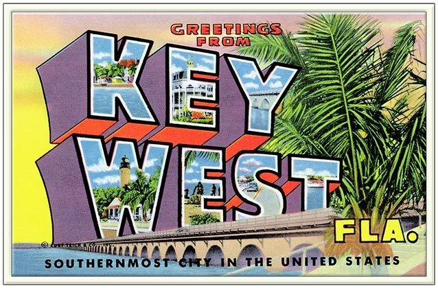 GREETINGS FROM SOUTHERMOST FL * 6'' x 11'' 10495