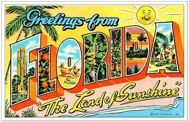 GREETINGS FROM LAND OF SUNSHINE * 6'' x 11'' 10496