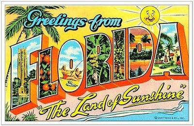 GREETINGS FROM LAND OF SUNSHINE * 6'' x 11''