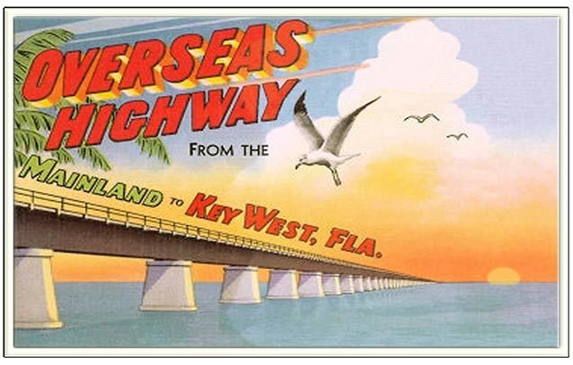 OVERSEAS HWY FROM MAINLAND MIAMI * 6'' x 11'' 10502