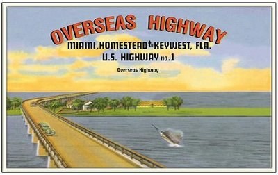 OVERSEAS HWY FROM MIAMI * 6'' x 11''