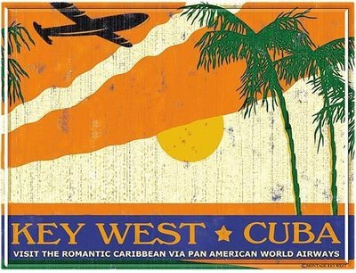 PA AM KEY WEST TO CUBA * 8'' x 11''