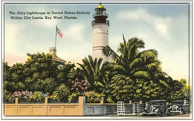 KEY WEST LIGHTHOUSE WITHIN CITY LIMITS * 6'' x 11'' 10511