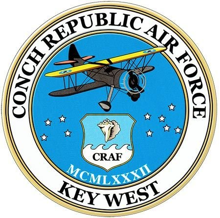 CONCH REPUBLIC AIR FORCE * 8'' x 8''