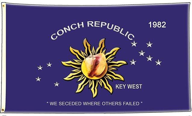 CONCH REPUBLIC FLAG * 6'' x 11'' 10547