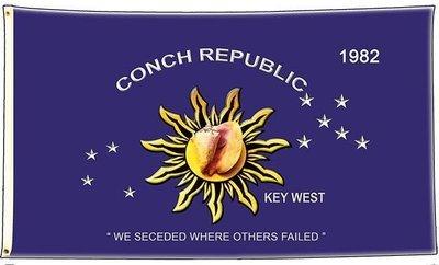 CONCH REPUBLIC FLAG * 6'' x 11''
