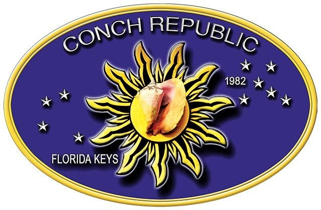 CONCH REPUBLIC OVAL * 7'' x 11'' 10549