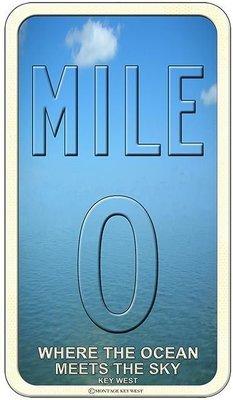 MILE 0 OCEAN MEETS SKY * 6'' x 11''