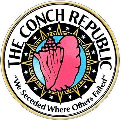 CONCH REPUBLIC WE SECEEDED * 8'' x 8''