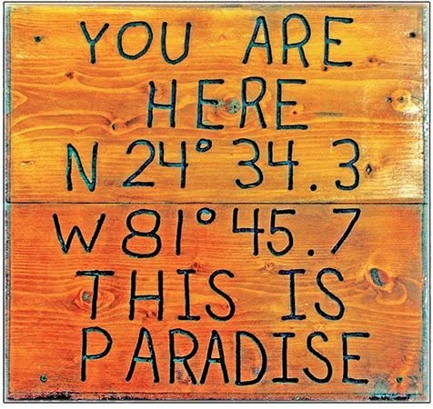 YOU ARE HERE PARADISE * 8'' x 8'' 10574