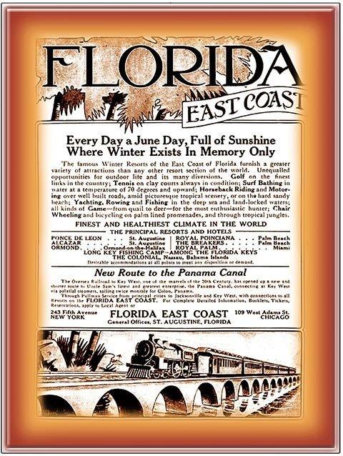 FLORIDA EAST COAST ALWAYS A JUNE DAY * 8'' x 11'' 10582
