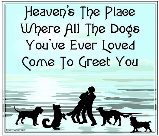 HEAVEN'S THE PLACE WHERE DOG'S * 8'' x 10''