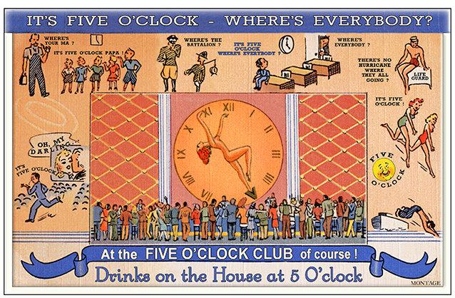 FIVE O'CLOCK CLUB 2 * 6'' x 11''