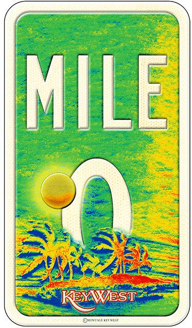 MILE 0 SUNSET KEY * 6'' x 11'' 10640