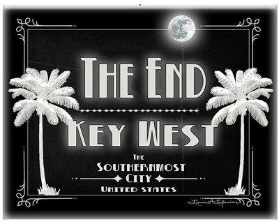 THE END KEY WEST B&W * 8'' x 11''1