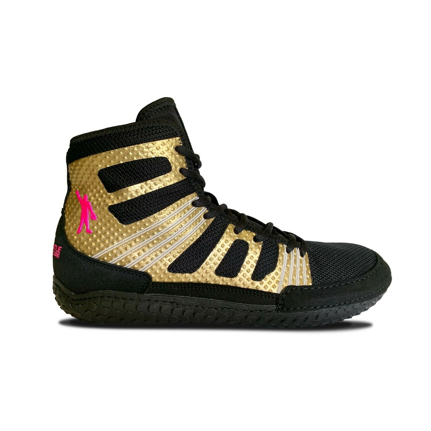 Pin Cancer Go-Gold Wrestling Shoe