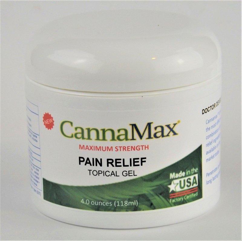 CannaMax® Pain Relief Gel (50mg CBD)- 4 ounce Jar