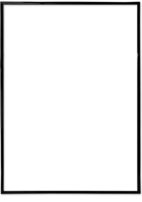 Рамка чёрная + упаковка