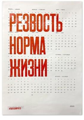 Календарь на 2020 год «Резвость норма жизни»