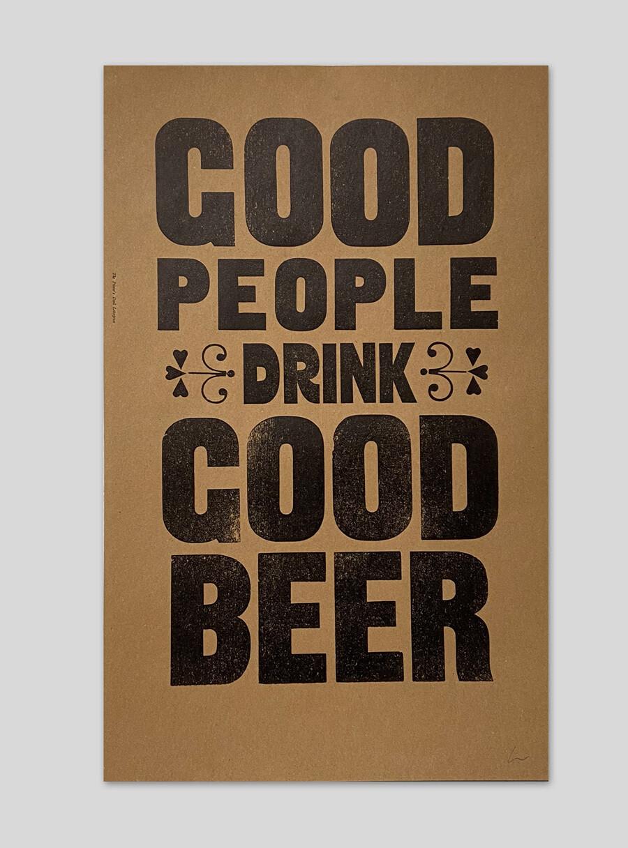 Good People Drink Good Beer (Brown)