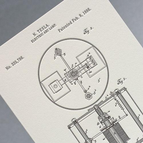 Открытка из серии «Патенты Николы Теслы», Electric Arc Lamp, fig. 2