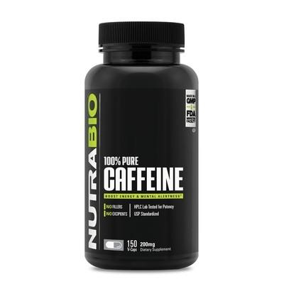 Nutrabio Caffeine 200MG 150 Capsules