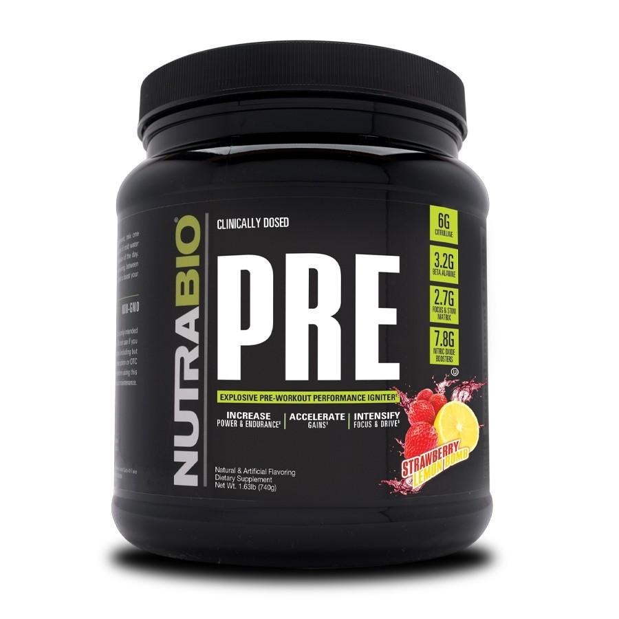 Nutrabio Pre Workout - Strawberry Lemon Bomb
