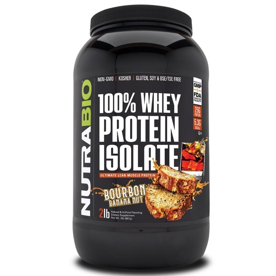 Nutrabio Whey Protein Isolate - Bourbon Banana Nut