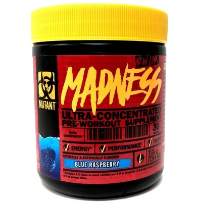 Mutant Madness Pre Workout - Blue Raspberry