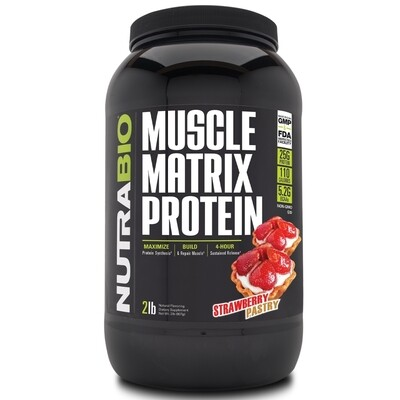 Nutrabio Muscle Matrix Protein 2 Lb - Strawberry Pastry