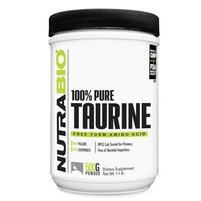 Nutrabio Taurine Powder 500 Grams
