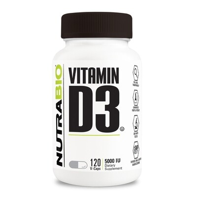 Nutrabio Vitamin D3 5000 IU