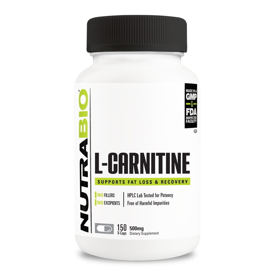 Nutrabio L-Carnitine Capsules 500mg