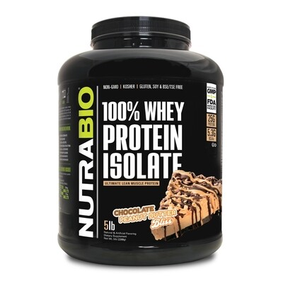 Nutrabio Whey Protein Isolate 5 Lbs - Chocolate Peanut Butter Bliss