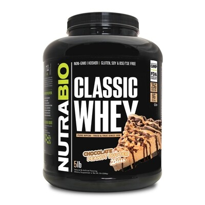 Nutrabio Classic Whey Protein 5 Lb - Chocolate Peanut Butter Bliss