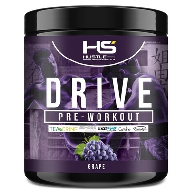 Hustle Supplements Drive Pre Workout - Grape