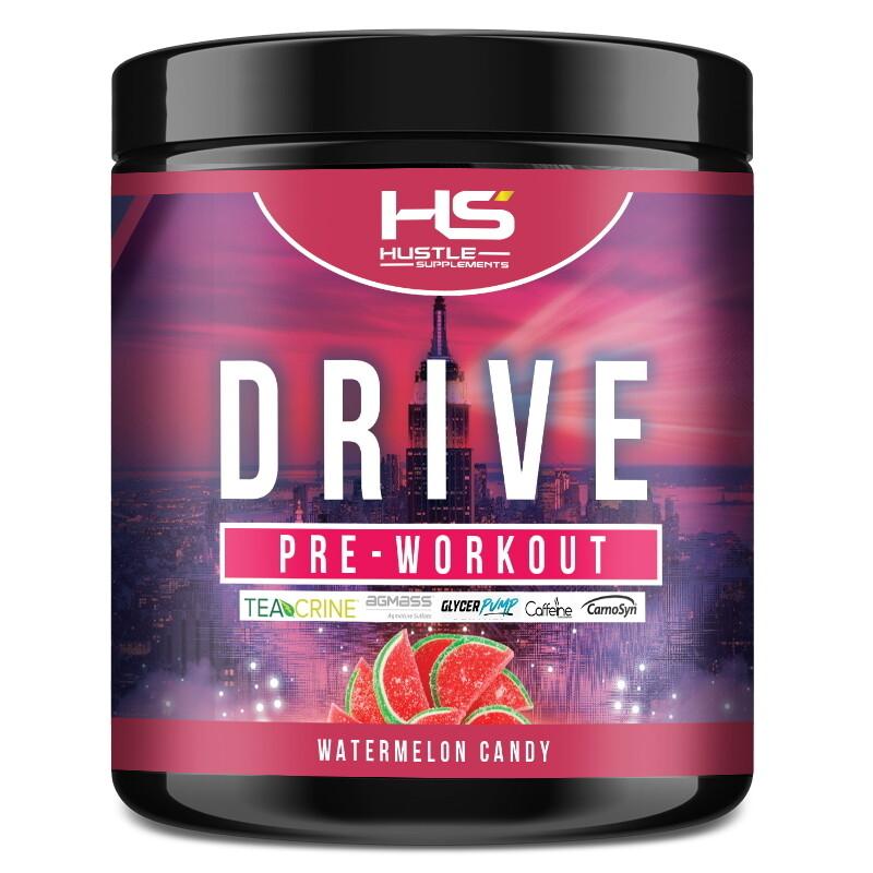 Hustle Supplements Drive Pre Workout - Watermelon Candy