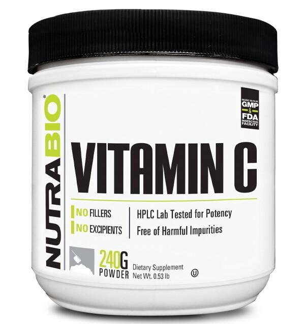 Nutrabio Vitamin C Powder - 240 Grams