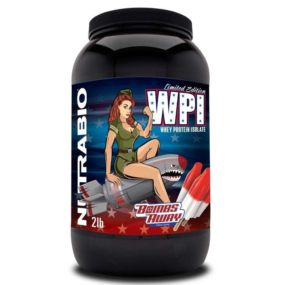 Nutrabio Whey Protein Isolate 2lb - Bombs Away
