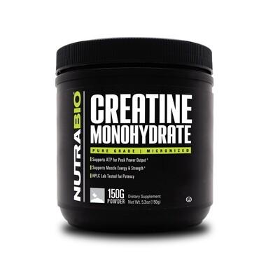Nutrabio Creatine Monohydrate - 150 Grams