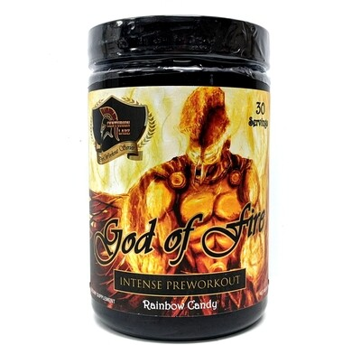 God Of Fire Pre Workout - Rainbow Candy