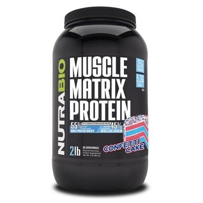 Nutrabio Muscle Matrix 2lb - Confetti Cake
